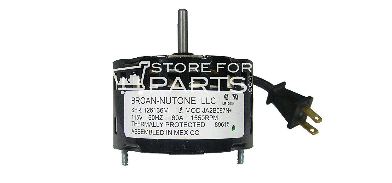 Nutone 0434A000 Motor (replaced by S89615000, no bumpers)