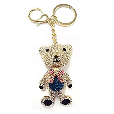 Amazon.com: Oso de vidrio Llavero cartera Encanto: Clothing