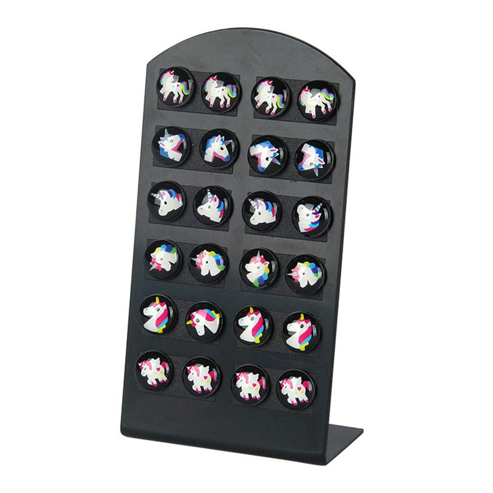 Myhouse 12 Pairs Horse Earrings Stud Cute Earrings Charm Jewelry