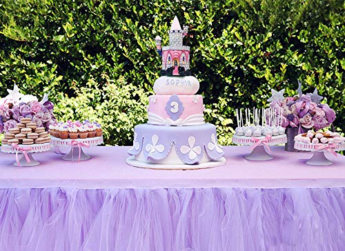 Clearance Sale! Tutu Table Skirt, Iuhan Fluffy Table Skirt Tulle Tableware Queen Wonderland Table Cloth Skirting Romantic for Party,Wedding,Birthday Party&Home Decoration,Table Skirting -