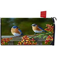FEDDIY Mailbox Covers, Bird Magnetic Mailbox Wraps Post Letter Box Cover Standard Size 20.8€(L) x 18€(W) for Garden Yard Decor