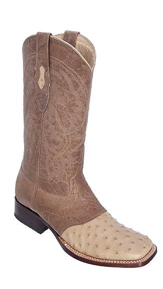 Genuine OSTRICH QUILL ORYX WIDE SQUARE Toe Los Altos Men's Western Cowboy Boot 8210311