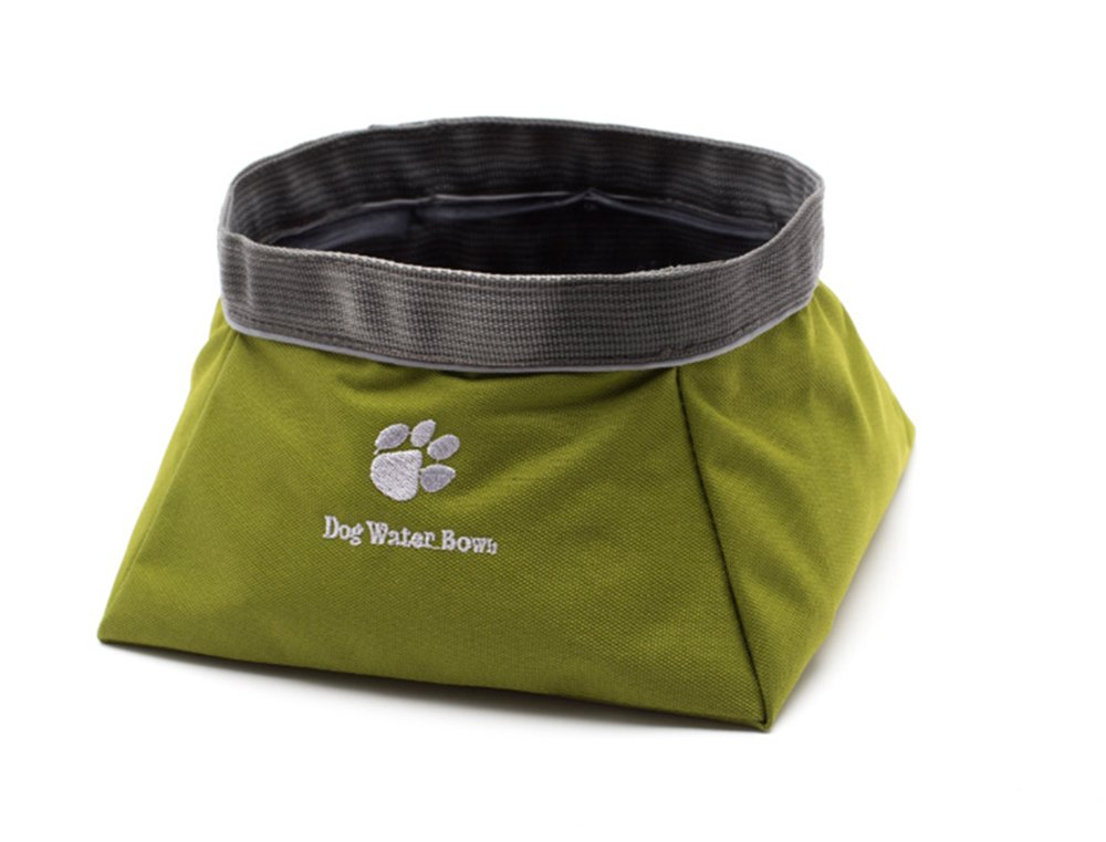 Water Yunneihe Bowls for Dogs Cats Pocket Bowl Walking, Hiking, Travel Waterproof Nylon Fabric Capacity, Folds to Fit in Pocket Live Un-Leashed