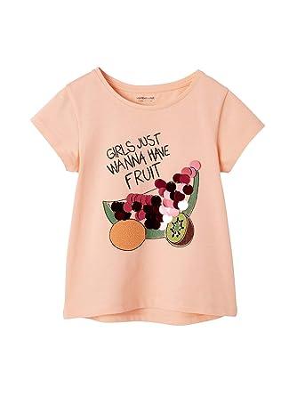 1337f4d8c04a5 Vertbaudet T-Shirt Fille Motifs Fruits Sequins géants et Broderies   Amazon.fr  Vêtements et accessoires