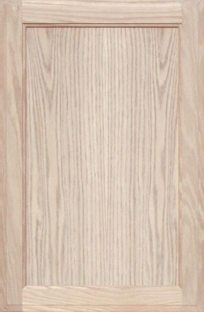Unfinished Oak Square Flat Panel Cabinet Door by Kendor, 26H x 17W Kendor Wood Inc.