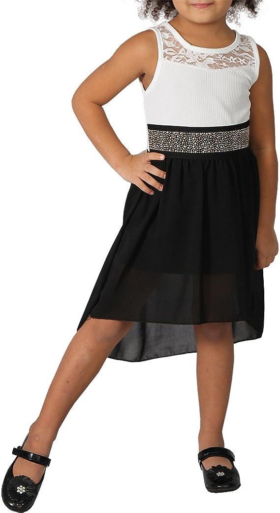 Mini Kleid Spitze Vokuhila Schulterfrei Abend Cocktail Kleid Party Dance Gürtel