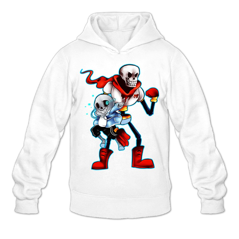 RONN Mens Undertale Sans and Papyrus Hooded Sweatshirt