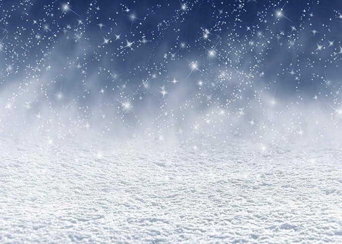 LYWYGG 7x5FT Sfondo invernale Neve Fotografia Sfondo Bianco Ghiaccio Neve Fondali Fotografia per Natale Bambini e Partito CP-106