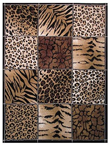 Rugs 4 Less Collection Modern Animals Skin Print Leopard Girraffe Tiger  Skin Mix Area Rug R4L 12 032 (5u0027X7u0027)