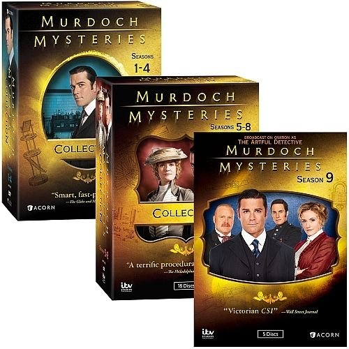Murdoch Mysteries : Complete Seasons 1-9 Collection Bundle (DVD, 39-Disc, 2016) by ACORN MEDIA