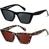 Cat Eye Sunglasses for Women Cateye Frames Fashion Vintage Small Square Classic Retro Sun Glasses ANDWOOD
