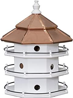 "product image for Saving Shepherd 12 Room Purple Martin Copper Top Birdhouse - Large 30"" Swallow 3 Story Bird Condo House Amish Handcrafted in Lancaster Pennsylvania USA"