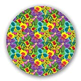 Uneekee Colorful Orchid Lazy Susan: Large, pure birch wooden Turntable Kitchen Storage