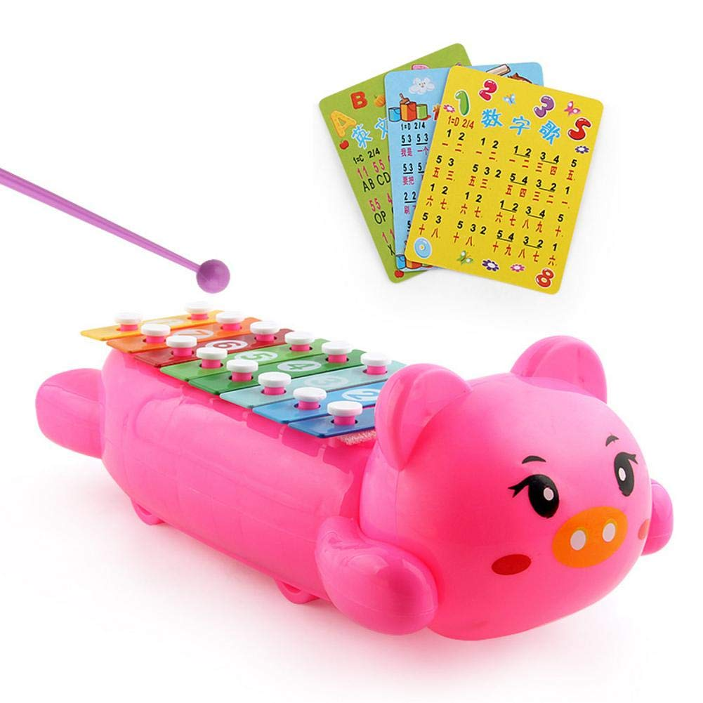 Baby's Musical Toy, Cute Pig Tiger Design Musical Toys Educational Toy Colroful keys, Sound Toys for Early Learning Educational, Boys and Girls with Xylophone Mallets Props Baby's Musical Toy Mimir-T