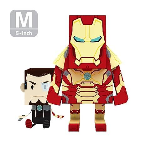 amazon com momot paper craft toy marvel iron man mark 42 5 inch