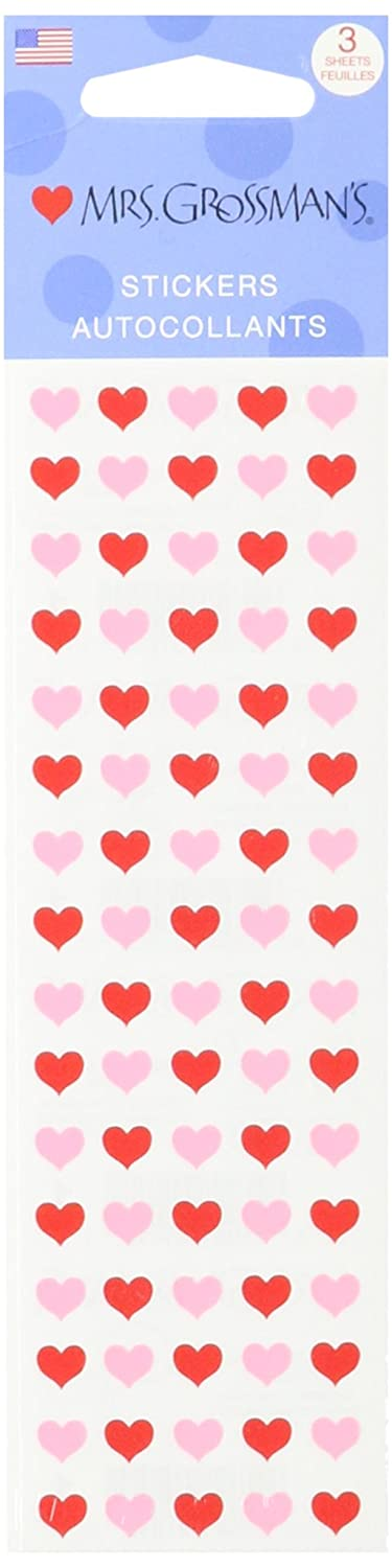 Mrs Grossman Stickers-Micro Red and Pink Hearts MG199-01053