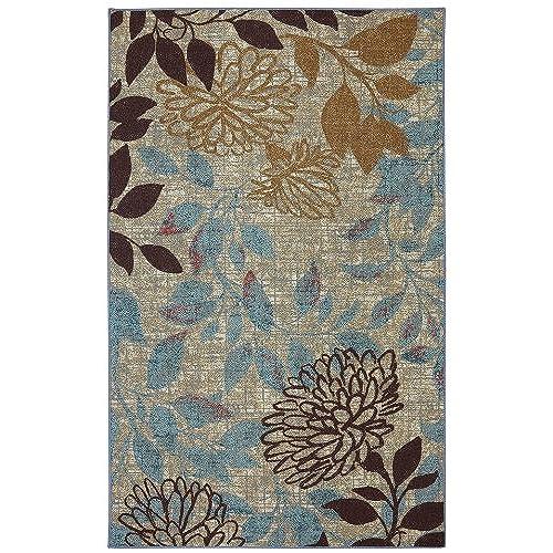 crafty design teal area rug. Mohawk Home Bella Garden Floral Indoor  Outdoor Patio Printed Area Rug 5 x8 Multicolor Brown and Teal Amazon com