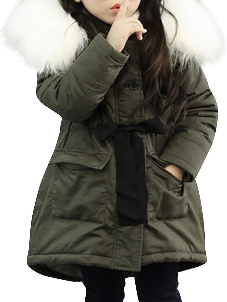 Giacca Bambino Invernali con Cappuccio di Pelliccia,Homebaby Giacca del Mantello del Cappotto...