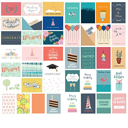 Barcaloo 48 Blank All Occasion Cards - Greeting Cards with Envelopes for Any & Every Occassion