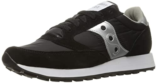 scarpe da ginnastica nere con logo saucony