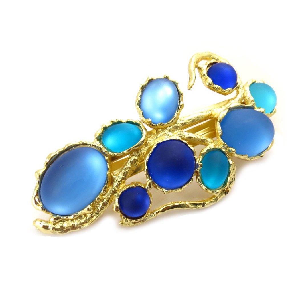 Dolce Vita [K3020] - Barrette Créateur 'Sissi' bleu doré Les Tresors de Lily 040104FAN062013K302000