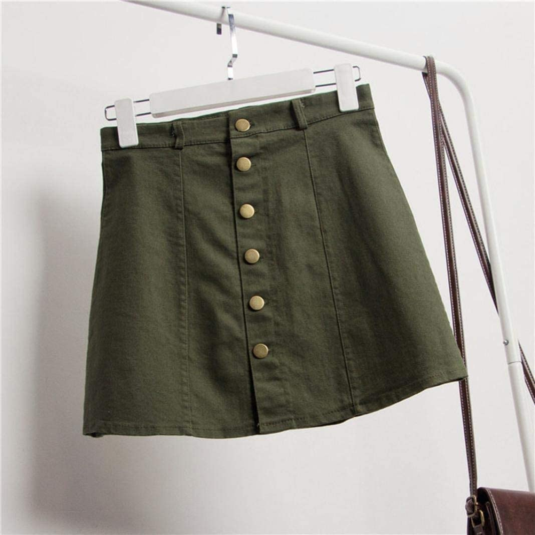 Betrothales Rock Ladies Summer Lhwy Women Casual S Chic Fashion Waist Skirt Casual Date Mini Skirt Party Hip Hop Denim Skirt A Line Short Dress for Teen Men Girls Army Green