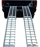 """Pit Posse PP2755P Pair Of Motorcycle ATV Folding Loading Ramps Aluminum 89"""" 1500lb Rated"""
