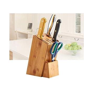 Cisne 2013, SL Bloque de Madera para Cuchillos y Utensilios de Cocina Organizador. Bloque Porta Cuchillos de Cocina. Medidas 16x22cm.