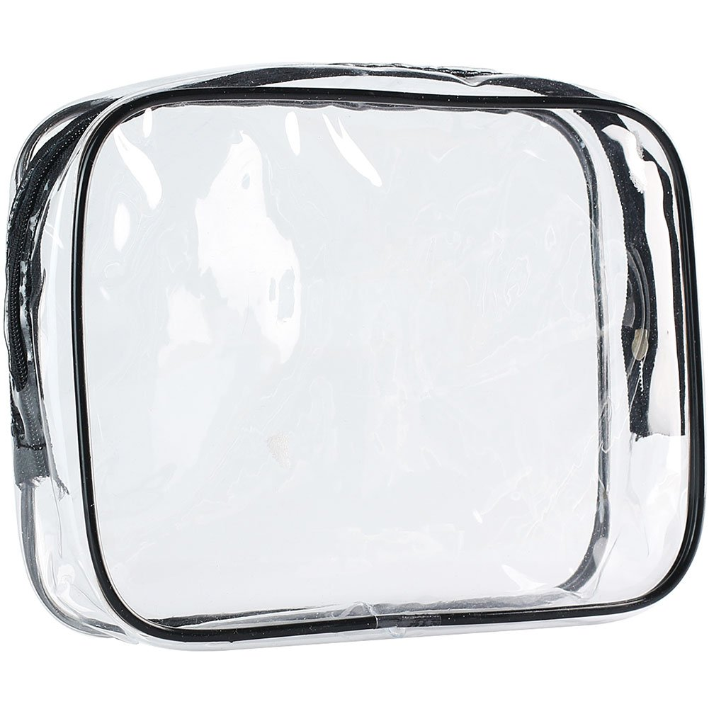ScivoKaval Clear Carry-On Travel Toiletry Bag TSA Approved 3 1 1 Airline Quart Bag 1 Quart Sized with Zipper for Men and Women 1 Pack