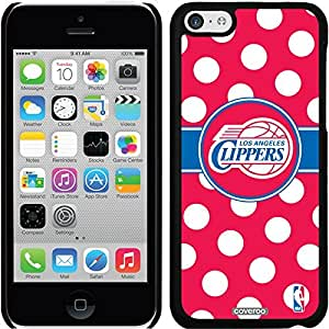 fashion case iphone 6 plus Black Thinshield Snap-On Case with LA Clippers Polka Dots Design
