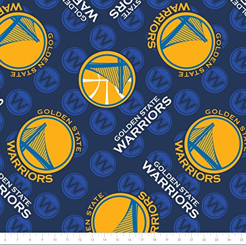 - Fleece NBA Golden State Warriors Basketball Sports Team Fleece Fabric Print by the yard