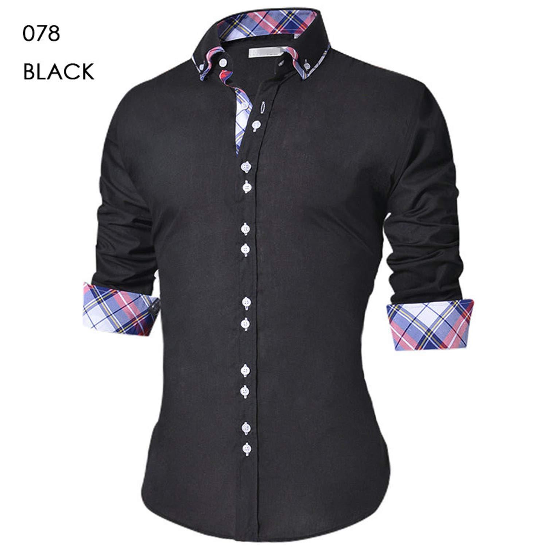 Brand Design Casual Shirt Men Long Sleeve Slim Fit Cotton Dress Shirts Office Formal Shirt