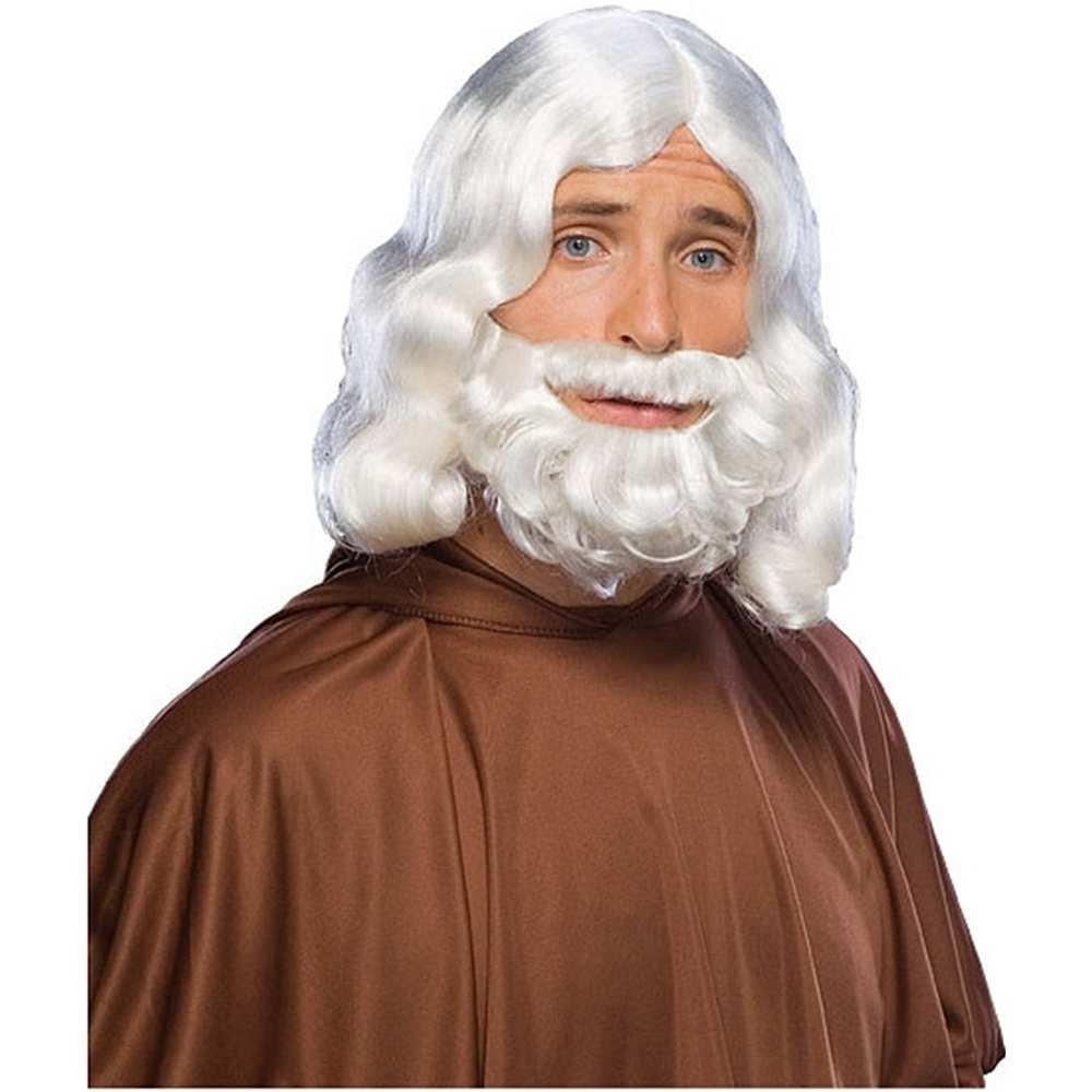 White Biblical Wig and Beard Set