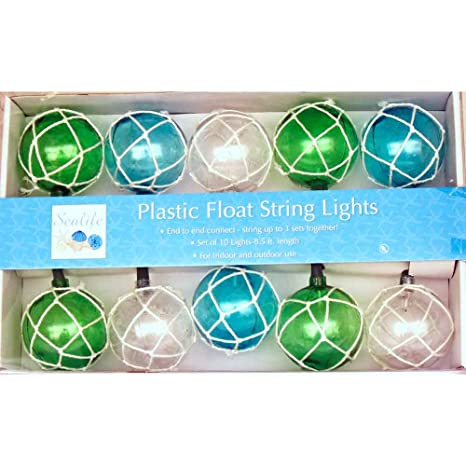 Amazon.com: Vintage glass-style boya flotador cadena de ...