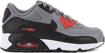 6da93d91621 Nike Air Max 90 LTR Cool Grey Black-Max Orange (Little Kid)