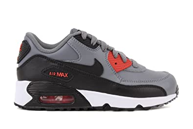 286a1f0f39 Amazon.com | Nike Air Max 90 LTR Cool Grey/Black-Max Orange (Little ...