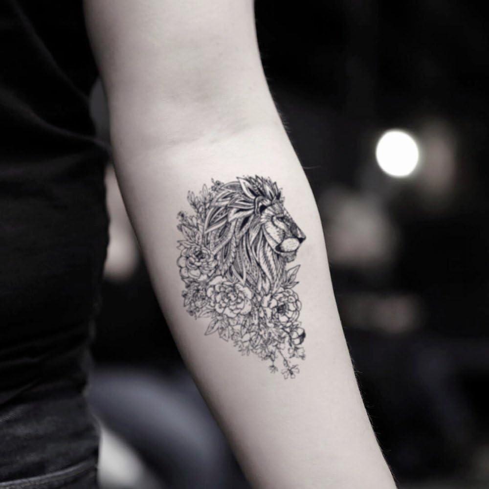 Tatouage Temporaire Fleur De Lion 2 Pieces Ohmytat Com Amazon Fr Beaute Et Parfum