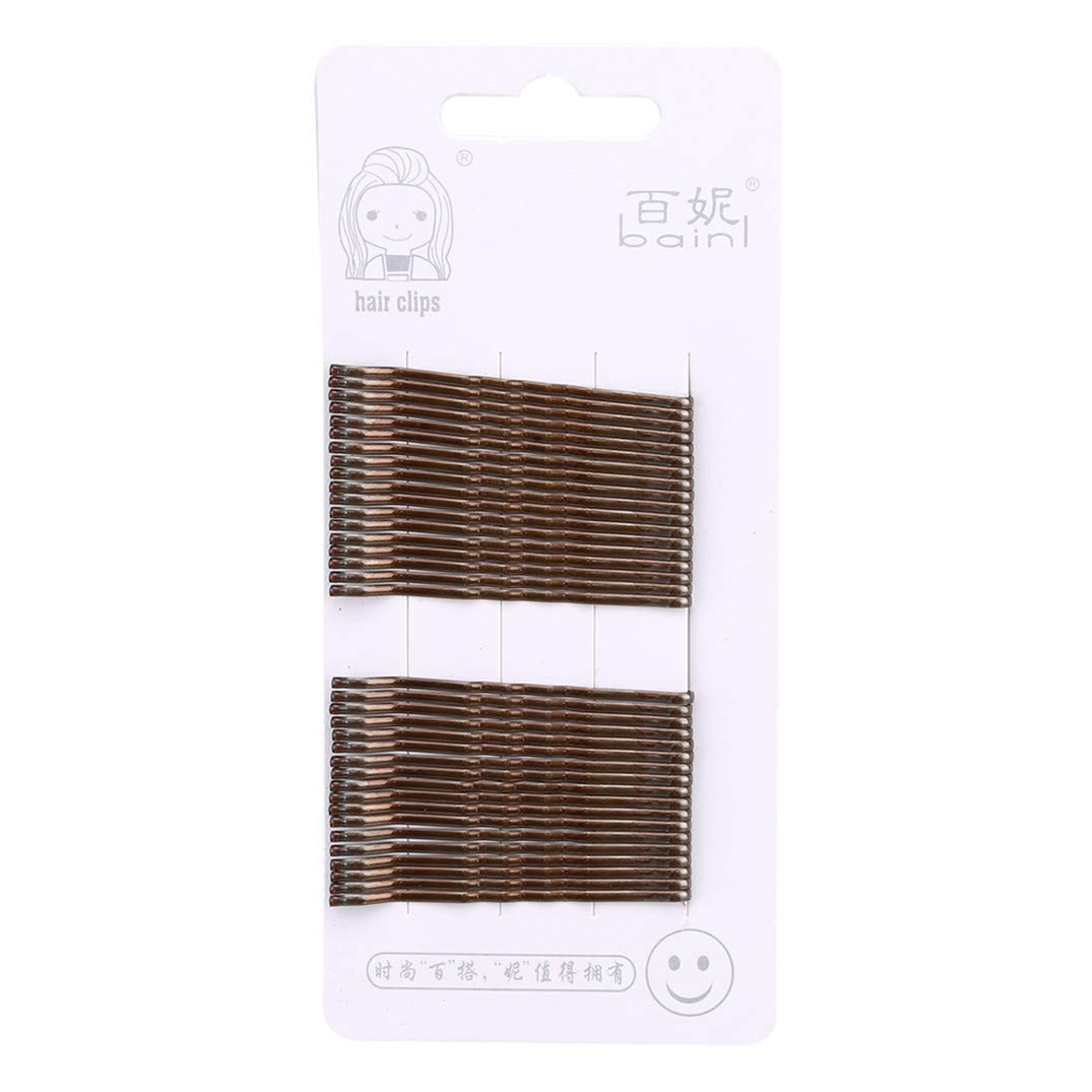 Waved Hairpin Set Bobby Pins Fashions Ladies Barrette DIY Hair Styling Tools for Women Girls Salon Accessories Anniversary Party Gift,Brown Durable and Useful