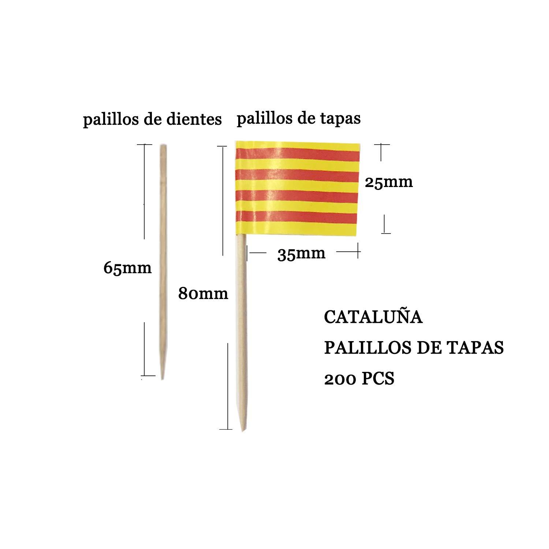 NEW TORO alillos de Tapas con Bandera Toothpick Flags Etiquetas Peque/ñas para Magdalenas Decorar Tartas Bocadillos Cumplea/ños Boda Fiesta de Bienvenida 3.5 Catal/án 200pcs Catalan 2.5cm