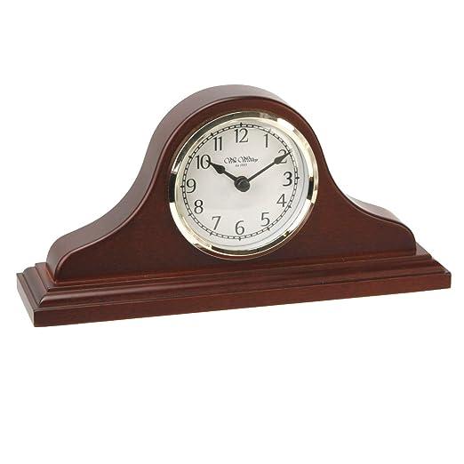 Napoleón reloj de mesa de madera de abedul con árabe Dial: Amazon ...