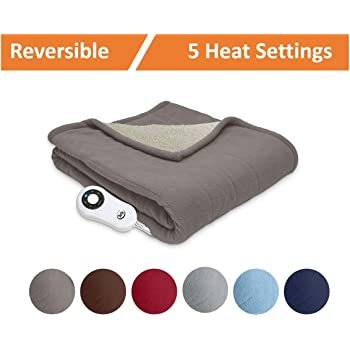 Amazon Hammacher Schlemmer The Cordless Heated Throw Home Gorgeous Rechargeable Heated Throw Blanket