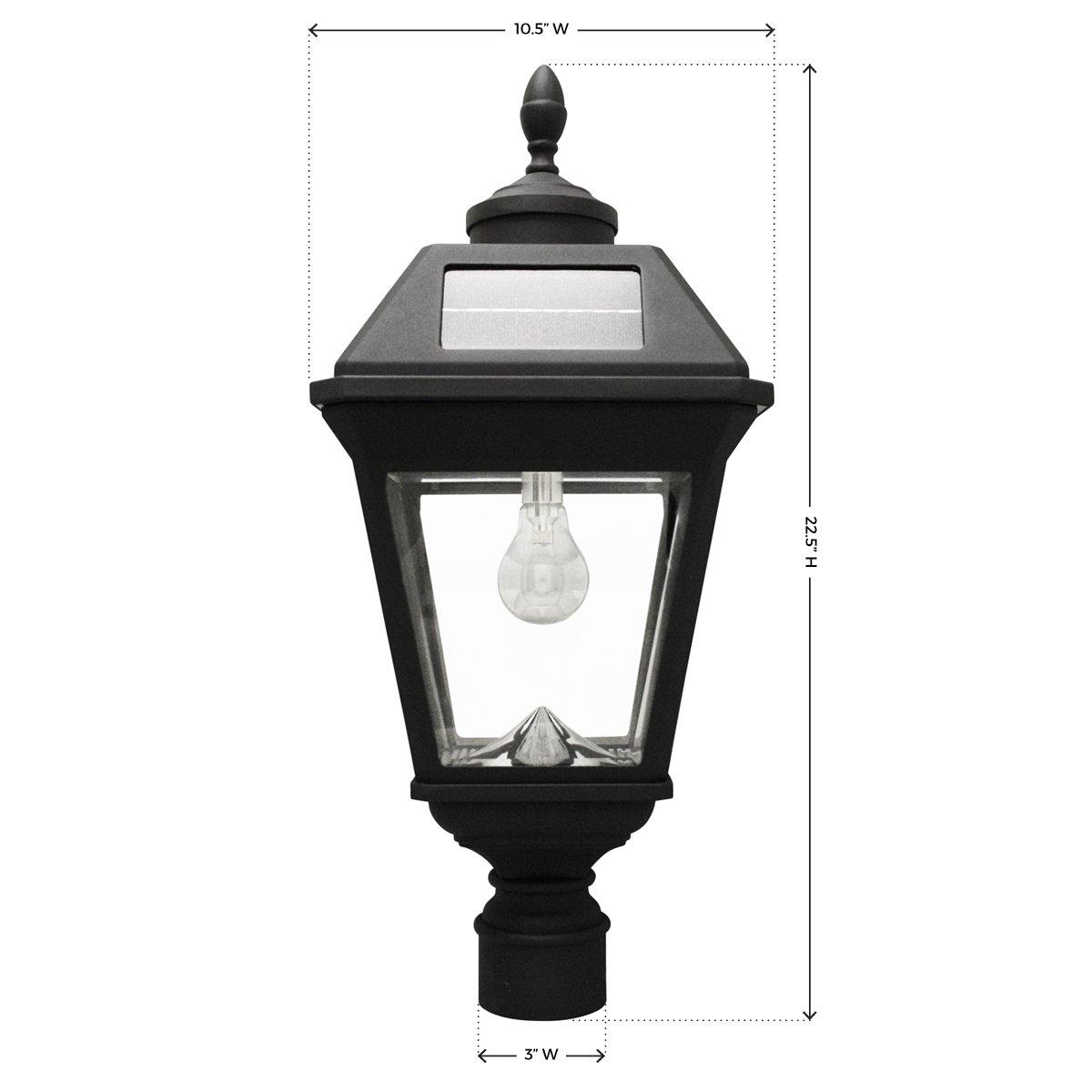 "Gama Sonic GS-97B-F Imperial GS Solar Light Bulb-3"" Fitter Mount, Black"