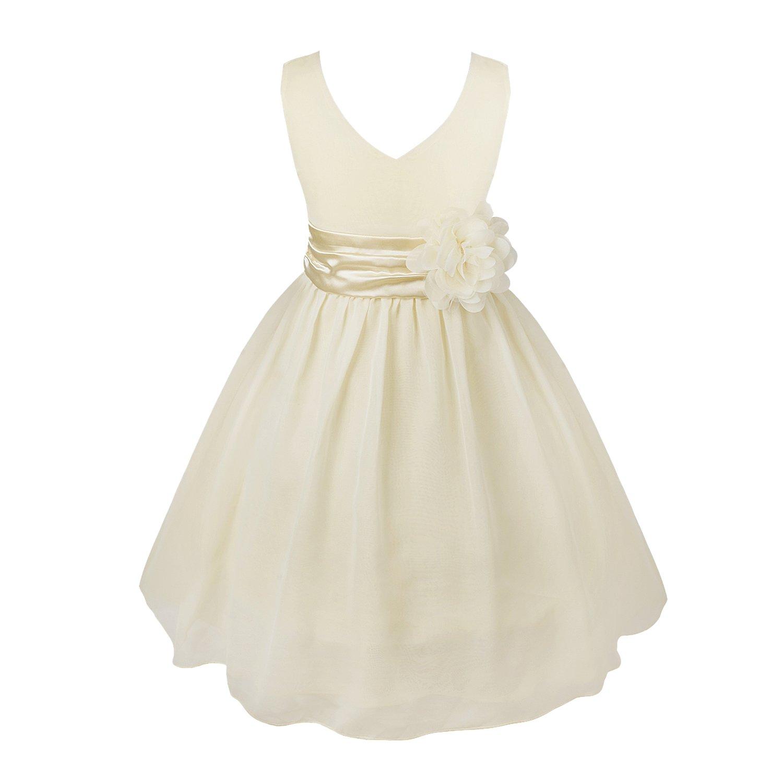 iEFiEL Vestido Elegante de Princesa Fiesta para Niña Vestido Infantil Flor Boda Niña