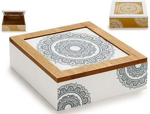 ARTE REGAL Caja 4 Departamentos Mandala 18x18x6cm Surtido A Elegir ...