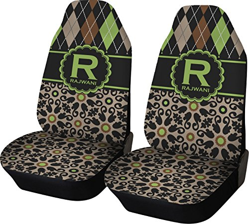 RNK Shops Argyle & Moroccan Mosaic Car Seat Covers (Set of Two) (Personalized)