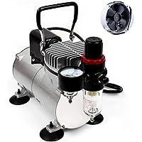 ABEST Compresor del aerógrafo Cool Runner Compresor de aire del mini pistón profesional del alto rendimiento con el…