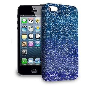 Phone Case For Apple iPhone 5 - Sparkling Damask Hardshell Lightweight by lolosakes