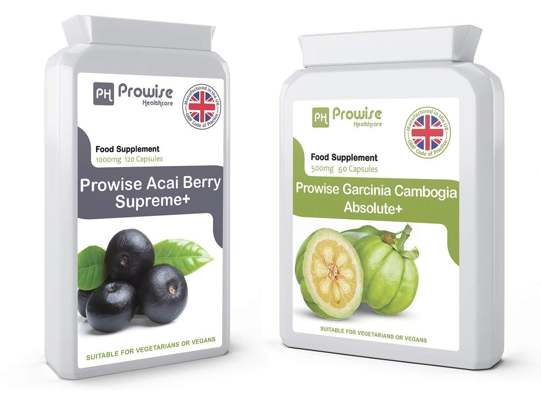 Acai Berry suplemento de la pérdida de peso 1000mg 120 cápsulas - Extracto liofilizado de alta calidad - tabletas de quemador de grasa - Garcinia cambogia ...