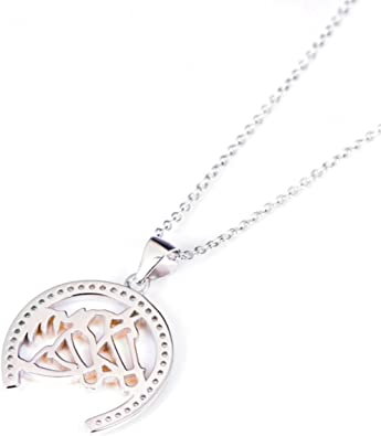 Sterling Silver Girls .8mm Box Chain 3D Female Snow Skier Pendant Necklace