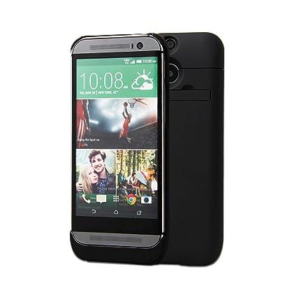 Amazon.com: HTC One M8 Funda Cargador de batería 3200 mAh ...